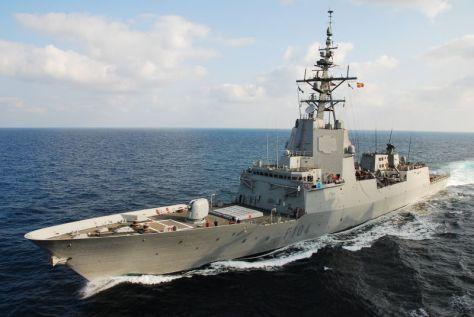 kunjungan kehormatan kapal perang Angkatan Laut Kerajaan Spanyol ESPS. Mendez nunez F-104