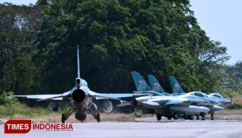 Lanud Iswahjudi Kirimkan Empat F-16 Fighting Falcon di Latbantem 2