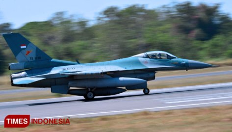 Lanud Iswahjudi Kirimkan Empat F-16 Fighting Falcon di Latbantem
