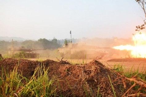 Leopard 2 RI dalam Latancab TNI AD Kartika Yudha 2019