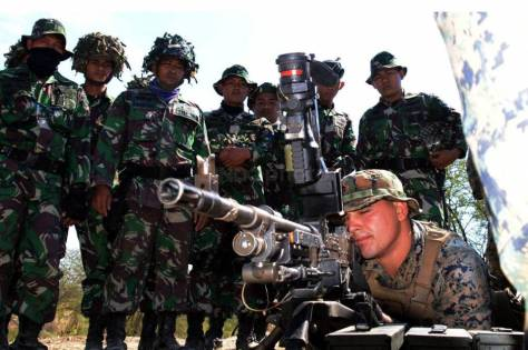 Marinir Indonesia dan Amerika Latihan Bersama Senjata Perorangan dalam CARAT 2019 2