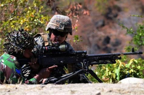 Marinir Indonesia dan Amerika Latihan Bersama Senjata Perorangan dalam CARAT 2019 6