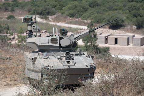 Sebuah prototipe tank yang dikembangkan oleh Elbit Systems sebagai bagian dari proyek Carmel (DoD Israel)