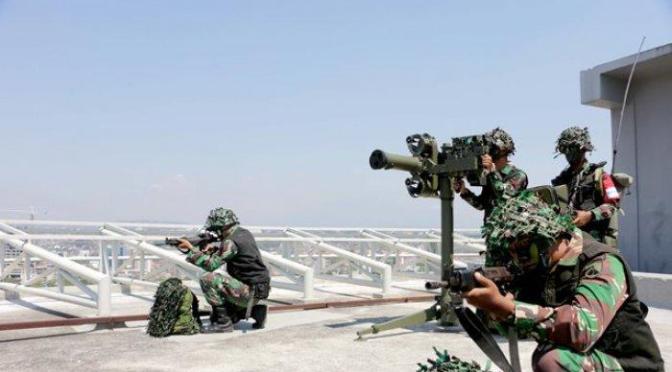 Uji Siap Tempur Prajurit Yonarhanud 15 Semarang