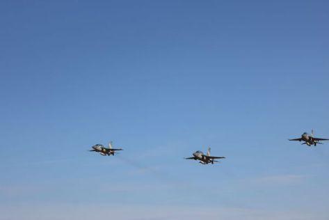 T-50i Lanud Iswahjudi terbang mengudara di langit Lanud Iswahjudi Madiun menuju langit Lanud Adisutjipto Yogyakarta, Kamis (29082019). Pen Iwj