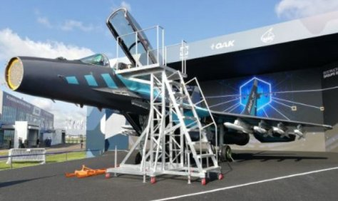The new AESA radar developed for MiG-35 fighter unveiled at MAKS 2019 airshow. (Defense World)