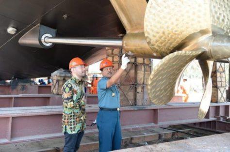 TNI AL Luncurkan Satu Unit Kapal Jenis PC-40 meter 3