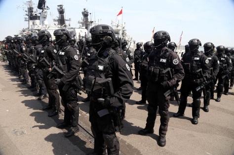 Apel kesiapan pasukan yang terlibat dalam Latihan Gabungan (Latgab) TNI 2019 di Dermaga Ujung Markas Koarmada II TNI AL 3