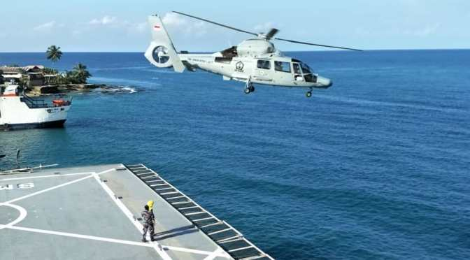 TNI AL Kirim Dua Unit Helikopter AS-565 MBe Panther ke Sail Nias