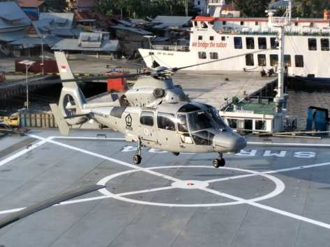 DUKUNG SBJ 68 SAIL NIAS 2019 TNI AL KIRIM 2 HELIKOPTER AS-565 MBe PANTHER