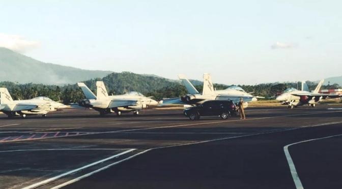 Jelang Elang Ausindo 2019, F-16 TNI AU dan F-18 RAAF Tiba di Manado
