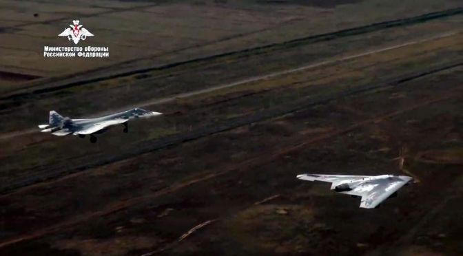 Jet Tempur Su-57 Tandem dengan Drone Okhotnik
