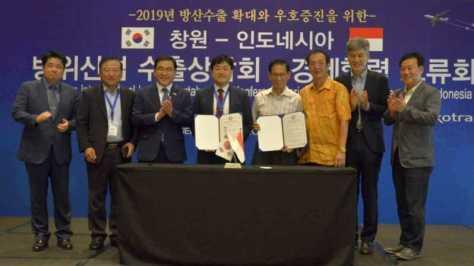 Walikota Changwon, Huh Sung-mu, bersama dengan Presiden KOTRA, Kwon Pyeong-oh mengirim delegasi perdagangan ke Indonesia 18-22 September