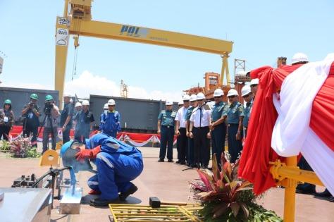 Kapal Bantu Rumah Sakit (BRS) Kedua TNI AL Masuki Tahapan Keel Laying 1