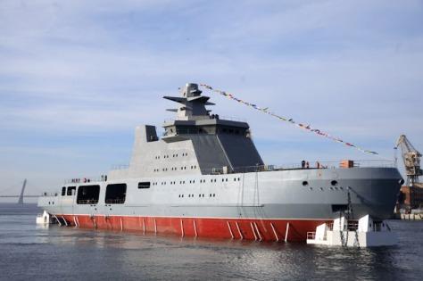 Kapal perang pemecah es baru milik Rusia, Ivan Papanin. (Istimewa)