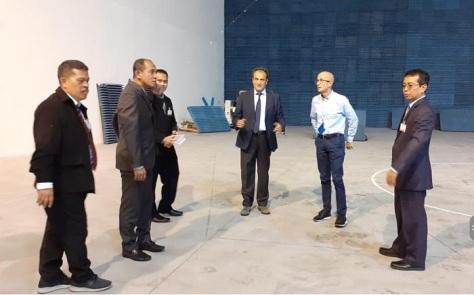 Kemhan Tinjau Program Joint Production Mission System PTTA Kelas MALE di IDS Italia 3