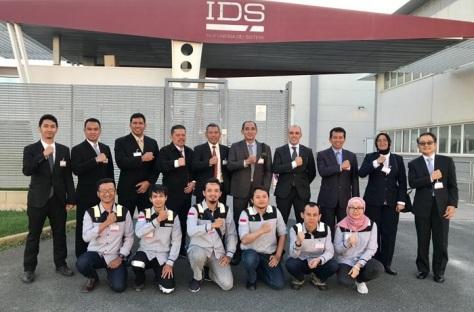 Kemhan Tinjau Program Joint Production Mission System PTTA Kelas MALE di IDS Italia