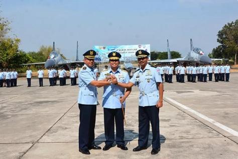 Pelantikan Komandan Baru Skadron Udara 14 Lanud Iswahjudi