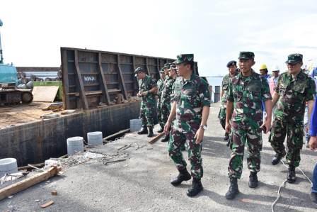 Pembangunan dermaga di Mamburungan Tarakan (TNI AL)