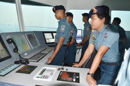 Siswa Dikmata Laksanakan Lattek Navigasi di Bridge Simulator