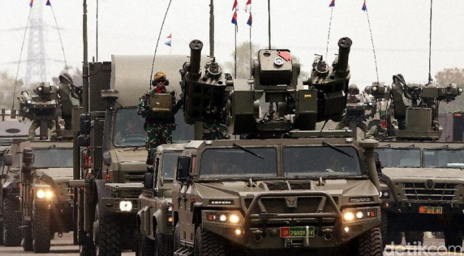 Alutsista Tri Matra Siap Meriahkan HUT TNI Ke-74