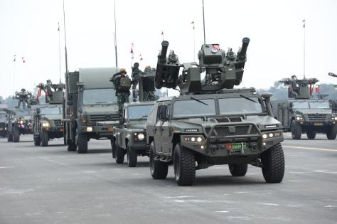 Starstreak dengan platform Urovamtac turut ditampilkan dalam HUT TNI ke-74
