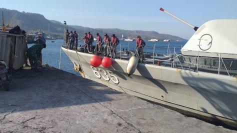 Tiga KRI Sandar di Pangkalan TNI AL Banyuwangi