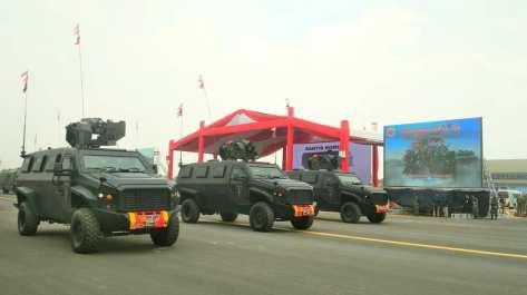 Turangga dalam gladi bersih HUT ke-74 TNI di Lapangan Udara (Lanud) Halim Perdanakusuma, Jakarta, Kamis (03102019) 1