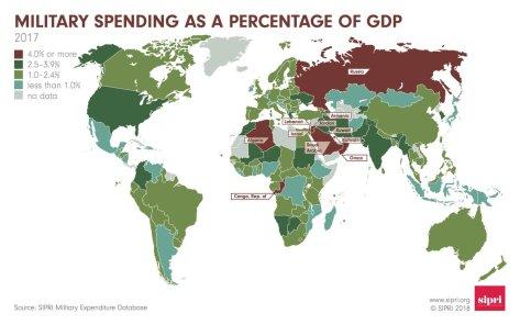 Anggaran pertahanan dunia (SIPRI) 1