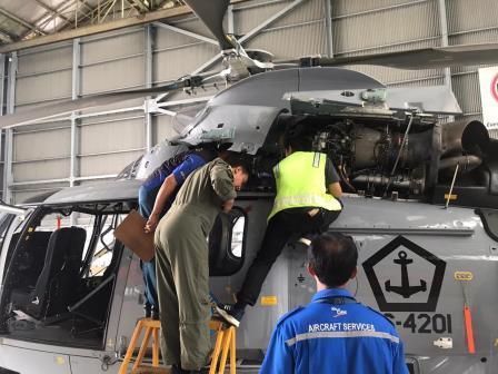 Helikopter Panther HS-4201 Laksanakan Pemasangan Naval Tambahan