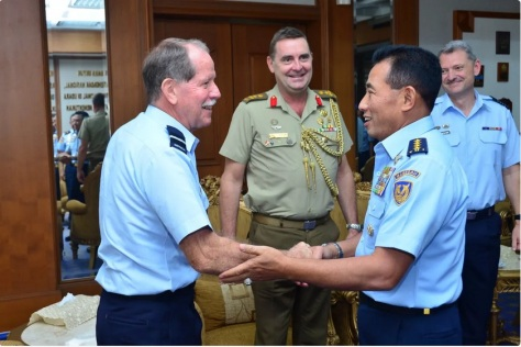 Kasau Terima Kunjungan Delegasi RAAF Joint Working Group