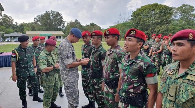 Latma Petir Sakti Tingkatkan Hubungan Kopassus dan Rejimen Pasukan Khas Angkatan Bersenjata Diraja Brunei