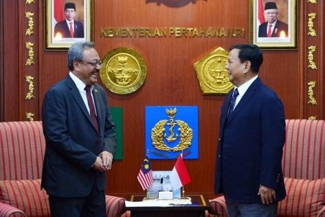 Menhan RI Terima Kunjungan Kehormatan Dubes Malaysia