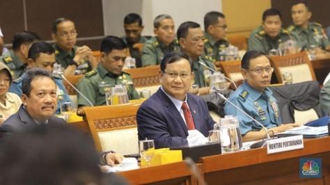 Menteri Pertahanan Letnan Jenderal TNI (Purn) Prabowo Subianto (CNBC Indonesia)
