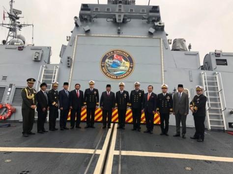 Menteri Pertahanan RI Prabowo Subianto melihat TCG kinaliada (28112019)