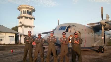 NC-212 U-6215 Laksanakan Pengamanan Wilayah Timur Indonesia
