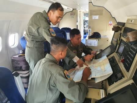 Pesawat CN235-220 MPA Laksanakan Patroli Udara Maritim