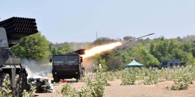 Uji Fungsi Amonisi Roket Kaliber 122 mm Buatan Republik Slovakia