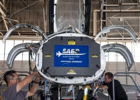 F-16 Radar Installation. July 23, 2015. Photographer: Bobbi Zapka