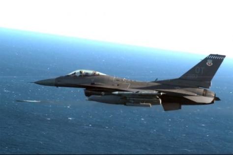 F-16 AS tembak jatuh drone dengan roket berpemandu laser (Air Force Magazine)