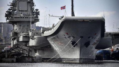 Kapal induk Admiral Kuznetsov. (AFP)
