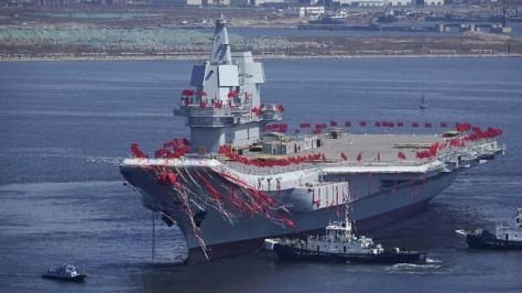 Kapal Induk Shandong Resmi Bergabung dengan Angkatan Laut (AFP)