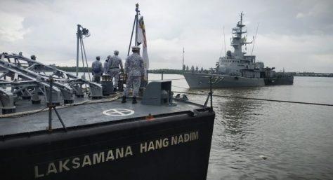 KD Laksamana Hang Nadim-134 dan KD Laksamana Tan Pusmah-137 yang saat tiba didermaga Lantamal l Belawan