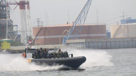 Korps Marinir Uji Fungsi Empat Sea Reader Rigid Bouyancy Boat (RBB) Merk Ye Boat 1