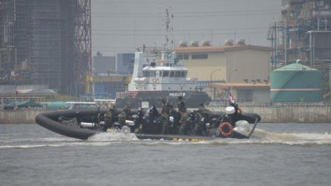 Korps Marinir Uji Fungsi Empat Sea Reader Rigid Bouyancy Boat (RBB) Merk Ye Boat 3