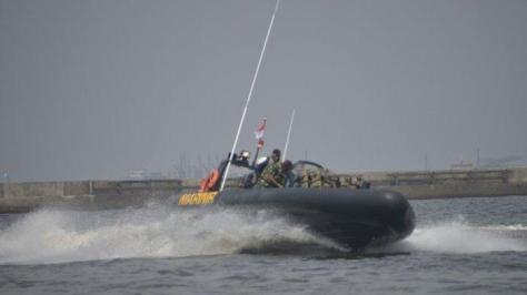 Korps Marinir Uji Fungsi Empat Sea Reader Rigid Bouyancy Boat (RBB) Merk Ye Boat 4