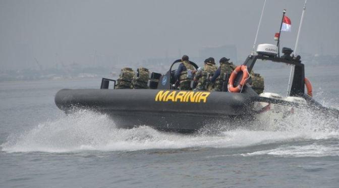 Marinir Uji Fungsi Empat Sea Reader RBB Ye Boat