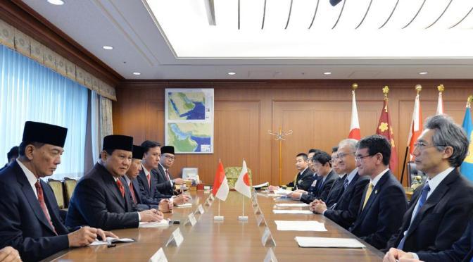 Menhan Indonesia Lakukan Kunjungan Kehormatan Kepada Menhan Jepang