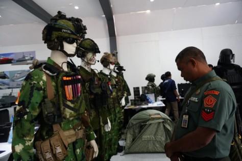 Pameran Alutsista di Halaman Kementerian Pertahanan, Jakarta, Selasa (03122019). (Kumparan) 6