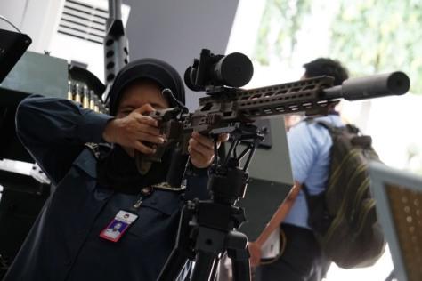 Pameran Alutsista di Halaman Kementerian Pertahanan, Jakarta, Selasa (03122019). (Kumparan) 7
